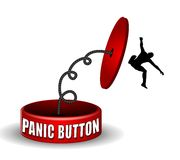 The Panic Button Pushes Back Stock Photos
