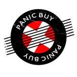 Panic Buy rubber stamp Royalty Free Stock Image