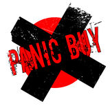 Panic Buy rubber stamp Stock Photo