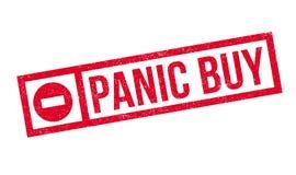 Panic Buy rubber stamp Stock Image