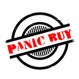 Panic Buy rubber stamp Stock Photos