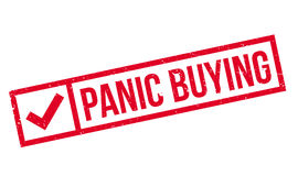 Panic Buying rubber stamp Stock Photography