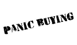 Panic Buying rubber stamp Stock Image