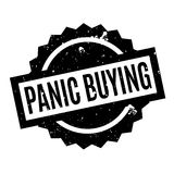 Panic Buying rubber stamp Stock Images