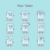 Panic cartoon digital tablet pc Stock Photos