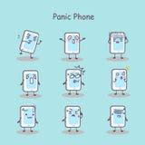 Panic cartoon smart phone royalty free illustration