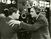 Panic in control room Royalty Free Stock Images