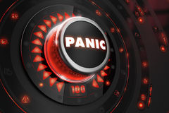 Panic Controller with Glowing Red Lights Royalty Free Stock Image