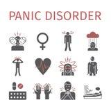 Panic disorder icon infographic. Stock Image