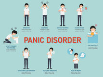 Panic disorder infographic. Vector illustration stock illustration