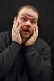 Panic expression. This picture represents a man with a panic expression Royalty Free Stock Photos