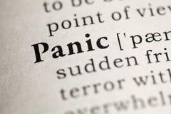 Panic Royalty Free Stock Photography