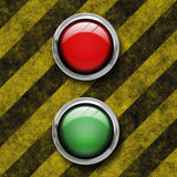 Panic and Go button Stock Image
