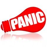 Panic red lamp stock illustration