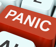 Panic Key Shows Panicky Terror Or Distress. Panic Key Showing Panicky Terror Or Distress stock images