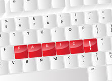 Panic Keyboard Concept Royalty Free Stock Image