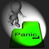 Panic Keyboard Means Alarm Distress And Dread. Panic Keyboard Meaning Alarm Distress And Dread Royalty Free Stock Image