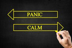Free Panic Or Calm Arrows Concept. Stock Photography - 191572112