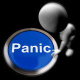Panic Pressed Shows Alarm Distress And Crisis. Panic Pressed Showing Alarm Distress And Crisis Stock Image