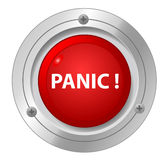 A panic red button. Royalty Free Stock Photos