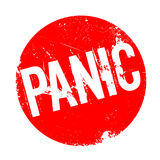 Panic rubber stamp Stock Image