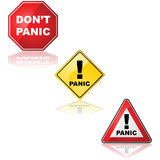 Panic sign Stock Photos