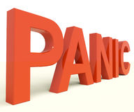 Panic Word As Symbol for Emergency And Stress. Panic Letters As Symbol for Emergency And Stress Stock Photography
