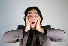 paniced бизнесмен Стоковое фото RF