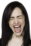 Panicked girl. Beautiful pretty girl in pain Royalty Free Stock Images