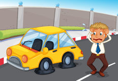 A panicking office worker. Illustration of a panicking office worker Royalty Free Stock Image