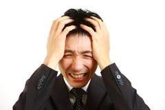 Panicky businessman Stock Photography