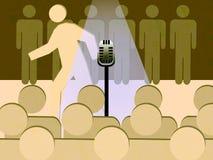 Panico da palcoscenico - correndo a partire dal riflettore Immagini Stock Libere da Diritti