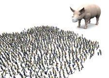 Panico di influenza dei maiali Fotografia Stock Libera da Diritti