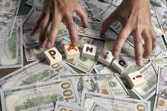 Panico e soldi Immagine Stock