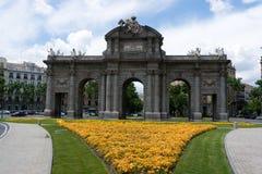 panie alcala de Madryt puerta Zdjęcie Royalty Free