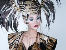 panie fantazyjne skóry tygrysa Obrazy Royalty Free