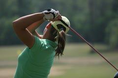 panie golfowa zamach Obrazy Stock