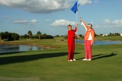 panie prawdziwy golfiarz świętować fotografia royalty free