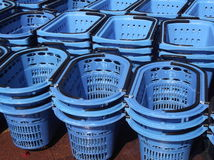 Panier à provisions de supermarché Photographie stock