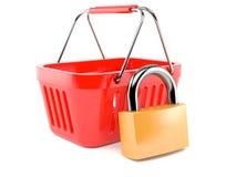 Panier à provisions intérieur de cadenas Image stock