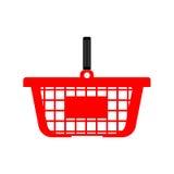Panier à provisions ou chariot - couleur rouge Images stock