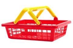 Panier à provisions rouge Images stock