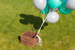 Panier avec des boules Photo libre de droits