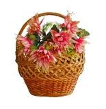 Panier avec des fleurs Photographie stock libre de droits