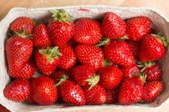 Panier avec des fraises Photographie stock libre de droits
