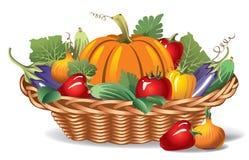 Panier avec des légumes illustration de vecteur