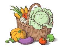Panier avec des légumes Photo libre de droits