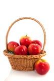 Panier avec des pommes Photo libre de droits