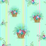 Panier avec flowers15 Photographie stock