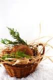 Panier avec la noix de coco Images stock
